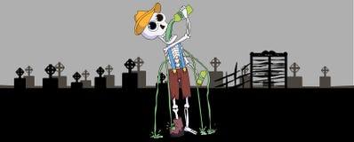 Happy Halloween skeleton Stock Photo