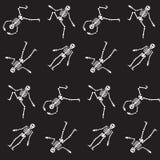 Happy Halloween skeleton seamless pattern Stock Photos