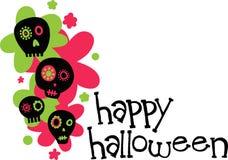 Happy Halloween Skulls Royalty Free Stock Photos