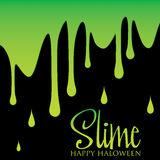 Happy Halloween. Slime Halloween card in vector format Royalty Free Stock Images