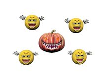 Happy Halloween Smiling Emoticon - 3d rendering Stock Photography