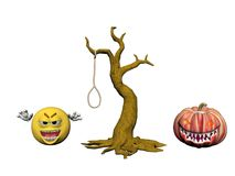 Happy Halloween Smiling Emoticon - 3d rendering Royalty Free Stock Photography
