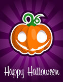 Happy Halloween Smiling Pumpkin Royalty Free Stock Images