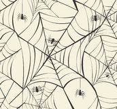 Happy Halloween Spider Webs Seamless Pattern Background EPS10 Fi Royalty Free Stock Photography