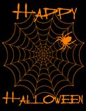 Happy Halloween! Spiderweb! Stock Image