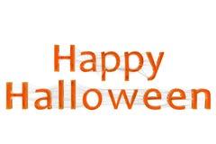 Happy Halloween Spiderweb Text Royalty Free Stock Image