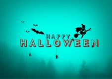 Happy Halloween, A Spooky Forest At Night. Happy Halloween, A Spooky Forest At dark Night Stock Photography