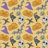 Happy Halloween spooky seamless pattern Royalty Free Stock Images