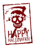 Happy Halloween stamp. Royalty Free Stock Photos