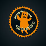 Happy halloween sticker Royalty Free Stock Images