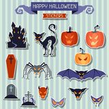 Happy Halloween stickers set for design Royalty Free Stock Images