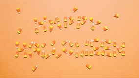 Happy Halloween Stop Motion Animation Featuring Spiders and Candy Corn stock footage