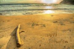 Happy halloween at sunset Stock Photo