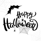 Happy Halloween template for banner or poster. Vector Stock Images