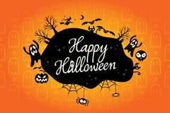 Happy halloween text design background Stock Photo