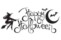 Happy Halloween text royalty free stock photo