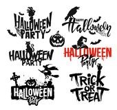 Happy Halloween text vector. Happy Halloween text for your banner design. Vector illustration Stock Images