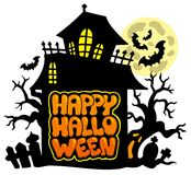 Happy Halloween theme 2 Stock Images