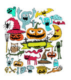 Happy Halloween theme and halloween background Royalty Free Stock Photography