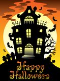 Happy Halloween theme with Moon 2 Stock Photo