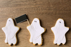 Happy halloween with three ghost Stock Photography