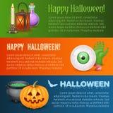 Happy Halloween three horizontal banners Stock Image