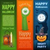Happy Halloween three vertical banners Stock Image