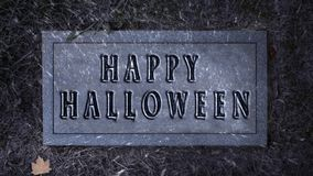 Happy Halloween Tombstone Leaf Reveal 4K