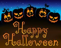 Happy Halloween topic image 6 Royalty Free Stock Image
