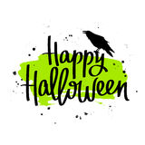 Happy Halloween. The trend calligraphy Royalty Free Stock Images