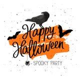 Happy Halloween. The trend calligraphy Stock Photo