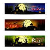 Happy Halloween trick or treat stock illustration