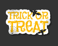 Happy Halloween trick and treat flyer template - Stock Images