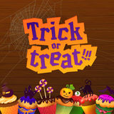 Happy Halloween Trick or Treat Greeting Card Royalty Free Stock Photography
