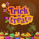 Happy Halloween Trick or Treat Greeting Card Royalty Free Stock Photo