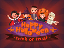 Happy Halloween. Trick or Treat. Invitation to a children's masq Stock Image