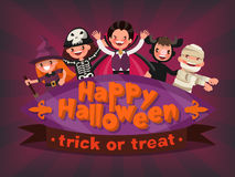 Happy Halloween. Trick or Treat. Invitation to a children's part Royalty Free Stock Image