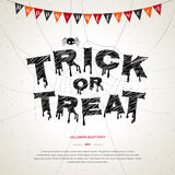 Happy Halloween, trick or treat poster background Royalty Free Stock Image