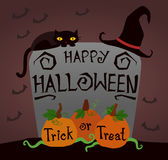 Happy Halloween, trick or treat pumpkin Royalty Free Stock Images