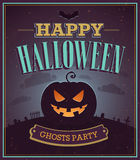 Happy Halloween typographic design. Stock Image
