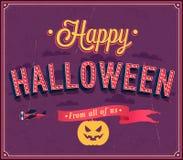 Happy Halloween typographic design. Royalty Free Stock Image