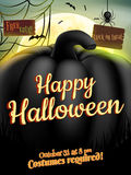 Happy Halloween Typographical Background. EPS 10 Royalty Free Stock Photos