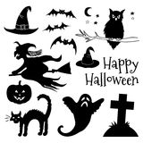 Happy Halloween Typographical Background. Owl Stock Photography