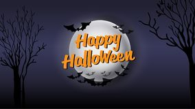 Happy Halloween typography calligraphy. Seasonal lettering. background layout design banner.  illustration Stock Photography