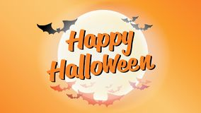 Happy Halloween typography calligraphy. Seasonal lettering. background layout design banner.  illustration Stock Image