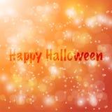 Happy Halloween Vector abstract bokeh blur background.. Happy Halloween Vector abstract bokeh blur background. Festive defocused lights. design illustraton Stock Images