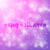 Happy Halloween Vector abstract bokeh blur background. Festive defocused lights. design illustraton Stock Images