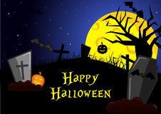 Happy Halloween vector bacground Stock Photo