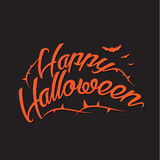 Happy Halloween Vector Background with Hand Lettering Stock Photos