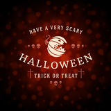 Happy Halloween Vector Background and Pumpkin. Happy Halloween Typographic Design Vector Background and Pumpkin Stock Photos